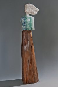 Wood and Stone Figurative sculpture