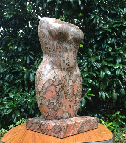 stone figurative torso sculpture