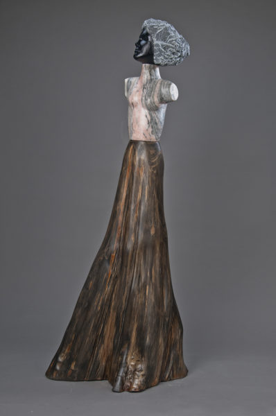 stone wood figurative sculpture